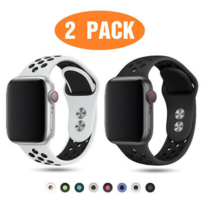 $ CDN10.08 • Buy 2 PACK Silicone Sport Band Strap For Apple Watch 6 5 4 3 38/40/42/44mm IWatch SE