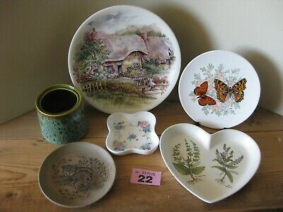 Poole Pottery Job Lot Collection Plates Cat Butterflies Heart Shaped Dish Floral • 14.99£