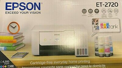View Details NEW Epson EcoTank ET-2720 Wireless Color Printer Scanner Copier W Ink ✅ WHITE • 284.88$