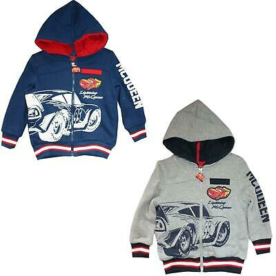 Boys RH1133 Disney Cars Warm Full Zip Hooded Sweatshirt Size: 3-8 Years • 21.99£