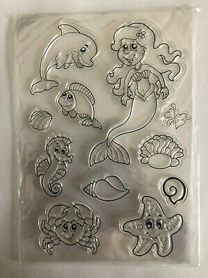 Clear Stamps For Card-making/scrap-booking Mermaid And Sea Life • 5.49£