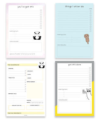 A5 Daily Planner Notepad Desk Planner Note Pad Organiser Cute Christmas Gift • 4.50£