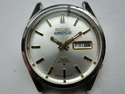 $ CDN222.09 • Buy Seiko 1970 Vintage Mens Watch 5 ACTUS 6106 SS Automatic Day Date Case 37mm