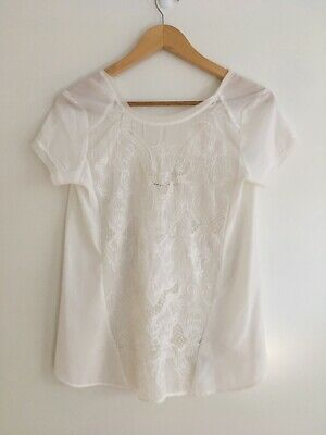 AU12.95 • Buy NWOT BERSHKA Embroidered Top - Size S