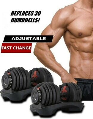 $ CDN499.99 • Buy Adjustable Dumbbells 5-52.5 LBS Each Pair - Like Bowflex