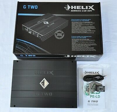 $ CDN354.60 • Buy HELIX G TWO 2x200W RMS 2Ohm SQ CLASS AB 2-CHANNEL, HI-INPUT, REMOTE CONTROL, NEW