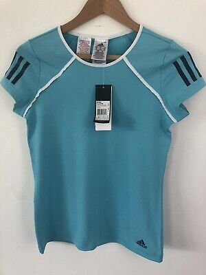 Adidas Teal Girls Badminton Tennis Squash Sports Top Climalite Age 13-14 BNWT • 13£