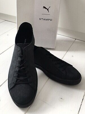 BNIB Puma X Stampd Clyde Trainers 9 43 Black End Sneakers Shoes • 59£