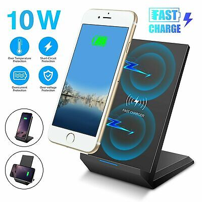 AU16.86 • Buy Wireless Charger Qi Fast Charging Stand Dock Station For IPhone 11 Pro XR X 8 SE