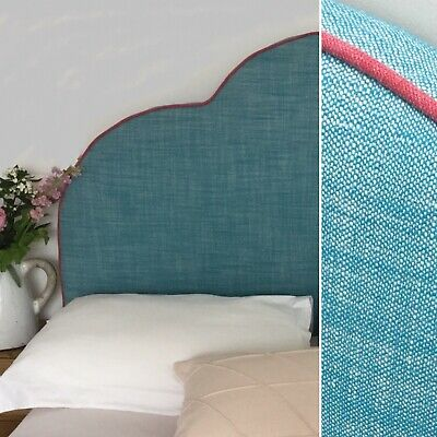 Upholstered Headboard In Romo Moroccan Blue Fabric • 250£