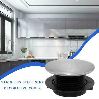 Stainless Steel Kitchen Sink Tap Hole Blanking Plug Plate Cover Stopper F5M2 • 1.98£