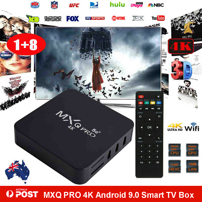 AU37.99 • Buy MXQ PRO 4K Quad Core 5G WiFi K 3D Smart TV Box Media Player Android 9.0 HDMI