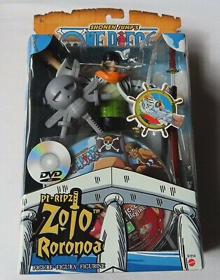 Shonen Jump's - One Piece - Pi-Ripz Zolo Roronoa  & DVD By Mattel In 2005 • 29.99£