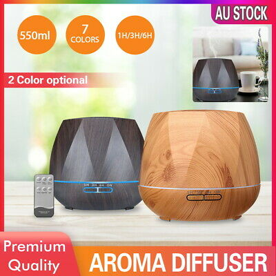 AU26.59 • Buy Aroma Aromatherapy Diffuser LED Essential Oil Ultrasonic Air Humidifier Purifier