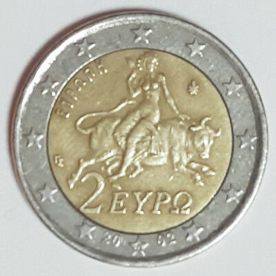 $ CDN2636.39 • Buy 2 Euro Coin Faulty Error Miss Stamping With *S* On Star Greece 2002 *VERY RARE*