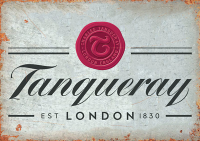 Tanqueray Gin Retro Metal Sign Man Cave Bar Pub Plaque Party Vintage Gift Wall  • 4.99£