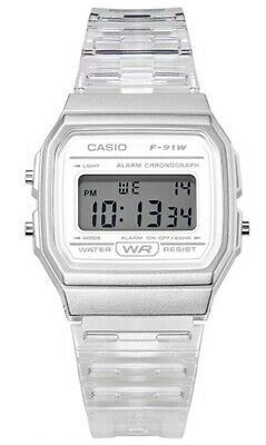 $ CDN25.36 • Buy Casio Women's Classic Digital Quartz White Transparent Resin Watch F91WS-7