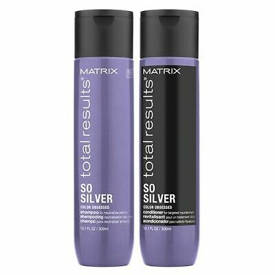£16.57 • Buy Matrix Total Results Color Obsessed So Silver Shampoo And Conditioner Duo 300ml