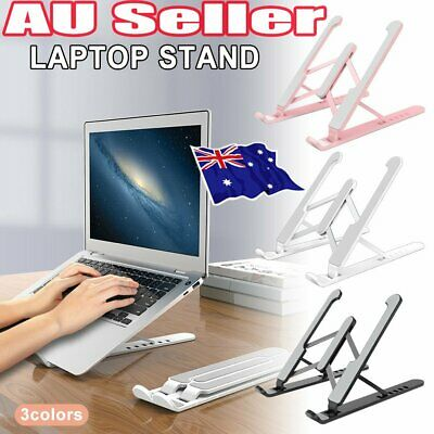 AU19.33 • Buy Laptop Stand Notebook Foldable Adjustable Table Portable Lazy Computer Desk QE