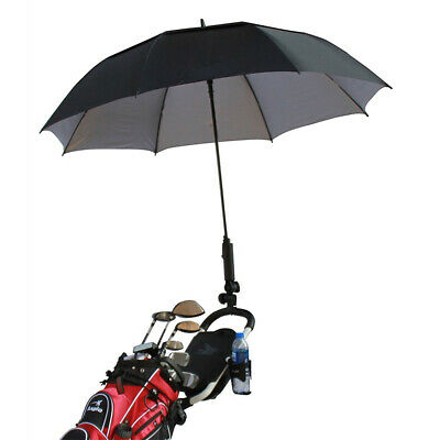 AU11.19 • Buy Adjustable Black Golf Umbrella Holder Stand For Buggy Cart Baby Pram Wheelchair#