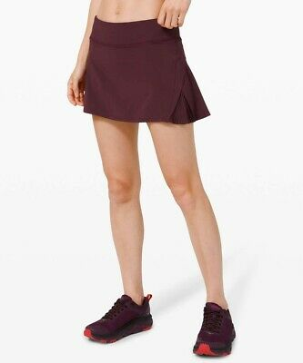 $ CDN107.84 • Buy  NWT Size 10  LULULEMON Play Off The Pleats Skirt *13  Cassis Zip Pocket