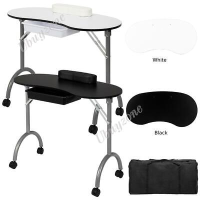 £45.59 • Buy Portable Manicure Nail Table Station Desk Spa Beauty Salon Equipment With Bag