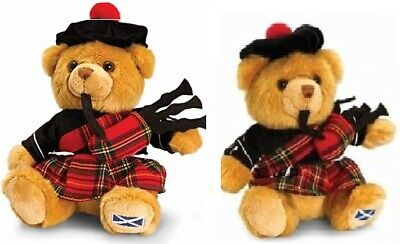 £15.99 • Buy 19cm Scottish Piper Hug Me Bear With Bagpipes Kids Soft Plush Toy Xmas Gift New