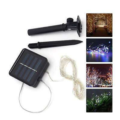5M LED Solar String Light Lights Waterproof Copper Fairy Outdoor Garden Party • 6.29£