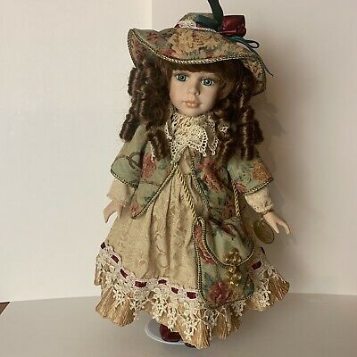 $ CDN26.63 • Buy Dandee Collectors Choice Porcelain Doll 17 In Victorian Style Outfit Blue Eyes