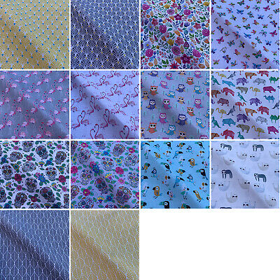 £1.89 • Buy  Animals & Floral Digital Print Cotton Rich Linen Fabric For Upholstery & Crafts