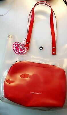 Brand New Claudia Canova Transparent And Red Tote Shoulder Bag Ladies Women  • 25.99£
