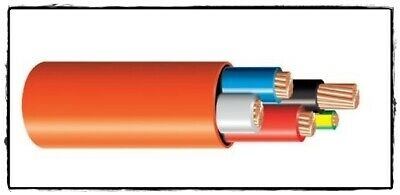 AU6.50 • Buy Prysmian 20200052 6mm 4 Core & Earth 2.5mm Orange Circular Cable 450/750V V90