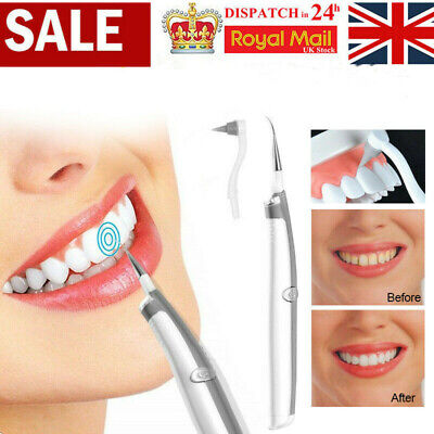 Electric Sonic Plaque Eraser Remover Dental Tooth Stain Polisher Teeth Whitener • 3.99£