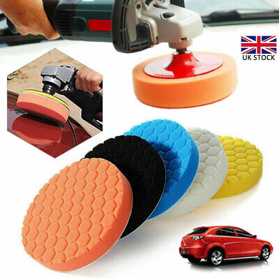 5Pcs 6 Inch 150mm Buffing Polishing Sponge Pads Kit For Car Polisher Buffer UK • 7.85£