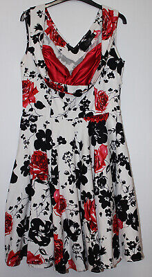Grace Karin White Floral Dress Size L • 11.65£
