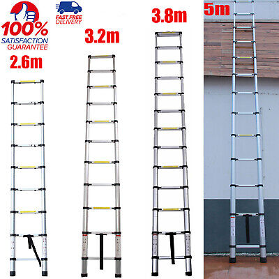 Telescopic Loft Ladder 3.2M-5M Extendable Collapsible Step Ladders Securing Bolt • 56.11£