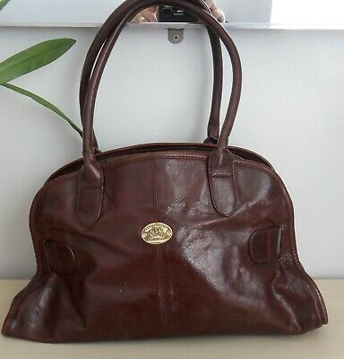 Jane Shilton Brown Leather Hand Bag • 3£