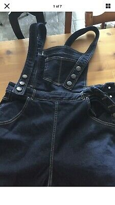 Hell Bunny Dungarees Sz Large ( 14 Approx)  Retro Vintage Rockabilly • 29£