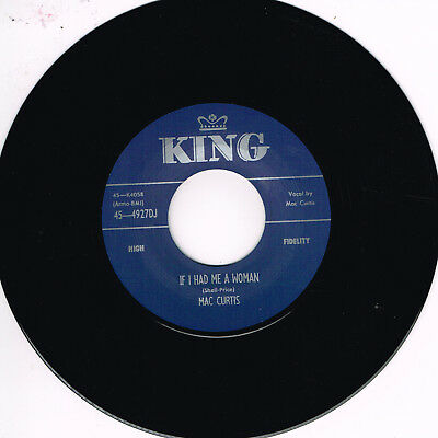 MAC CURTIS - IF I HAD ME A WOMAN / SAY SO (Hot 1950s ROCKABILLY) (New Repro) • 10.99£