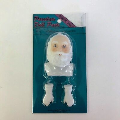 $ CDN15.27 • Buy Porcelain Doll Parts Santa Claus Face And White Gloves Hands Crafts Etc PD-5