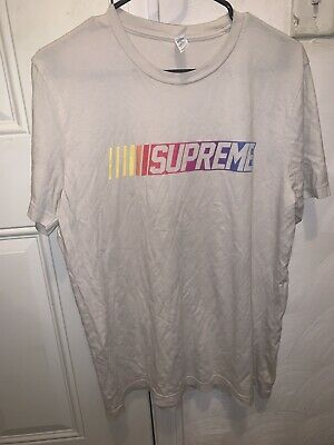 $ CDN27.78 • Buy Men's T-Shirt Gray With NASCAR Style Supreme Graphic Size Large