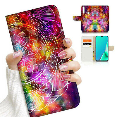 AU12.99 • Buy ( For Vivo Y12 / Y15 / Y17 ) Wallet Case Cover PB23341 Lotus Mandala