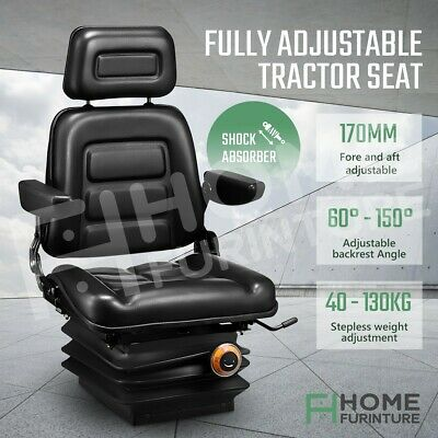 AU249.50 • Buy Forklift Tractor Seat Truck Forklift Excavator Suspension Chair Adjustable Seat