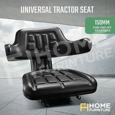 AU95.50 • Buy Tractor Seat Forklift Excavator Truck Universal PU Leather Backrest Chair Seat