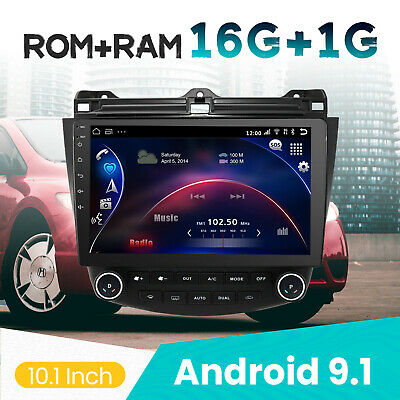 $155 • Buy 10.1'' Android 9.1 Car Stereo WIFI GPS Bluetooth For Honda Accord 2003-2007