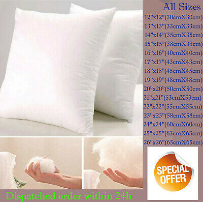 £5.65 • Buy DEEP FILLED Cushion Inserts Inners Pads NON-ALLERGENIC Fillers Scatters Pillows