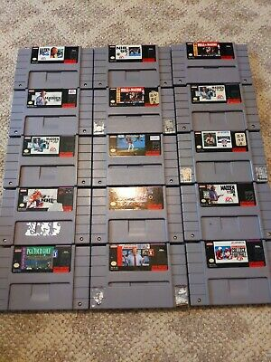 $ CDN72.49 • Buy Vintage Super Nintendo SNES Sports Lot 15 Madden NHL NBA Cartridge