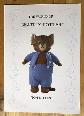 Beatrix Potter Knitting Pattern - Tom Kitten - By Alan Dart • 25£