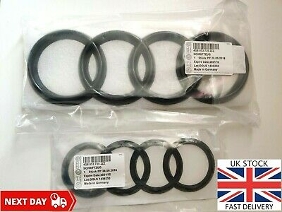 Audi A5 Ring Badge Set Front Grill Rear Boot Badge Tailgate Gloss Black Emblem • 34.96£