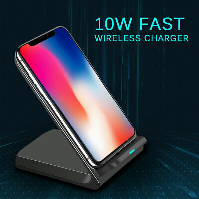 AU15.89 • Buy Qi Wireless Charger FAST Charging Dock For IPhone 11 XS XR 8 Samsung S10 S20 5G